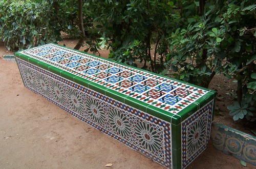 Bench with arabian tiles