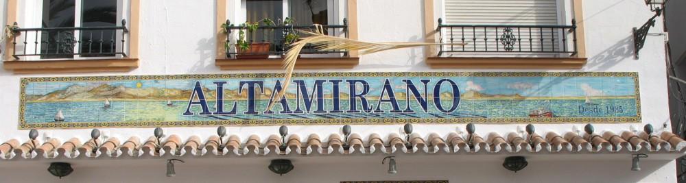 Rótulo Restaurante Altamirano (Marbella)