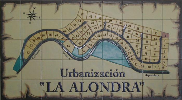 Rótulo-Plano Urbanización La Alondra