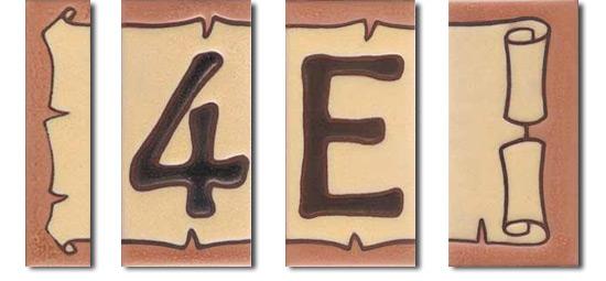 Letras Serie Rustica