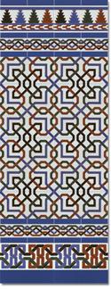 Zócalo azulejos estilo árabe 510 Azul