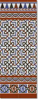 Zócalo azulejos estilo árabe 510 miel