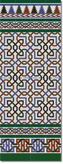 Zócalo azulejos estilo árabe 510 verde