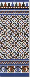 Zócalo azulejos estilo árabe 520 Azul