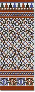 Zócalo azulejos estilo árabe 520 Miel