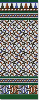 Zócalo azulejos estilo árabe 520 Verde