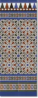 Zócalo azulejos estilo árabe 530 Azul