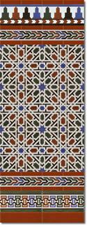 Zócalo azulejos estilo árabe 530 Miel