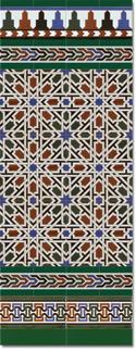 Zócalo azulejos estilo árabe 530 Verde