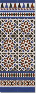 Zócalo azulejos estilo árabe 540 Azul