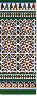 Zócalo azulejos estilo árabe 540 Verde