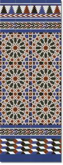 Zócalo azulejos estilo árabe 550 Azul