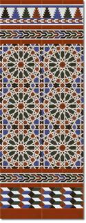 Zócalo azulejos estilo árabe 550 Miel