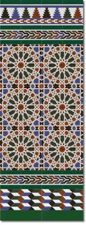 Zócalo azulejos estilo árabe 550 Verde
