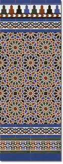 Zócalo azulejos estilo árabe 560 Azul