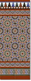 Zócalo azulejos estilo árabe 560 Miel