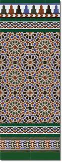 Zócalo azulejos estilo árabe 560 Verde