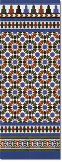 Zócalo azulejos estilo árabe 570 Azul