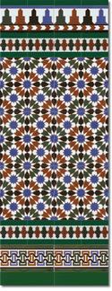Zócalo azulejos estilo árabe 570 Verde
