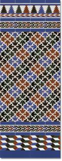 Zócalo azulejos estilo árabe 580 Azul