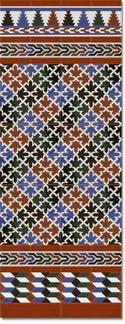 Zócalo azulejos estilo árabe 580 Miel