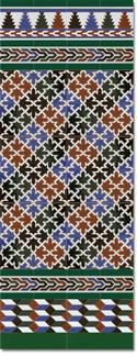 Zócalo azulejos estilo árabe 580 Verde