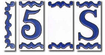 Letras de ceramica Mini Azul