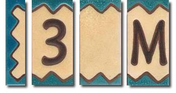 Letras de cerámica Mini Rústica