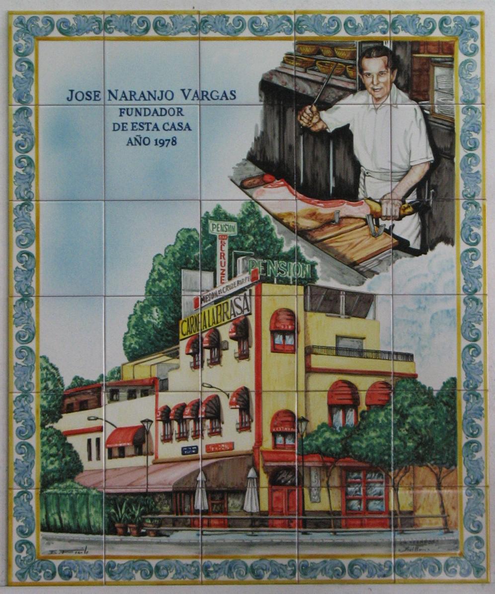 """Mural de azulejos homenaje """"Bar Pepito"""""""