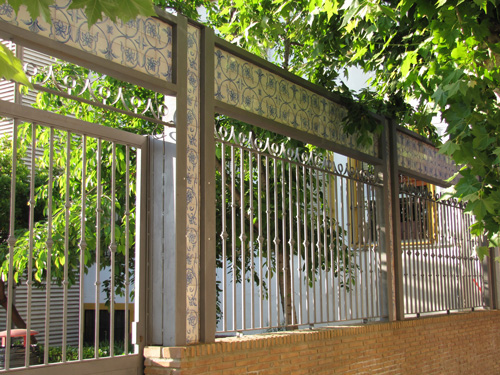 Azulejería para cerramiento exterior Colegio SAFA (Andujar - Jaén)