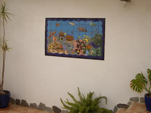Mural decorativo con fondo marino (Sevilla)