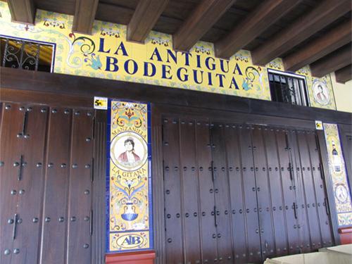 Rótulo La Antigua Bodeguita (Sevilla)