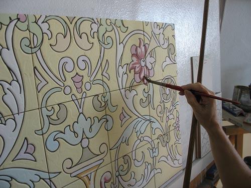 Pintando azulejos