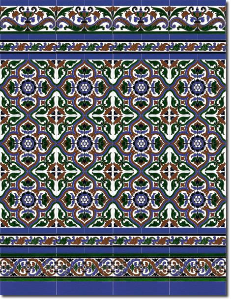 Zócalo azulejos estilo sevillano 110