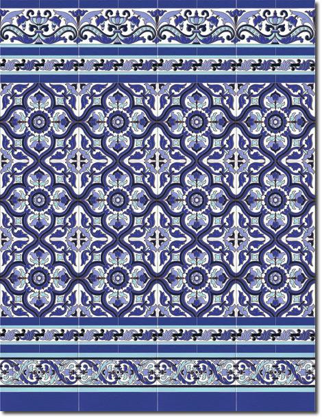 Zócalo azulejos estilo sevillano 113