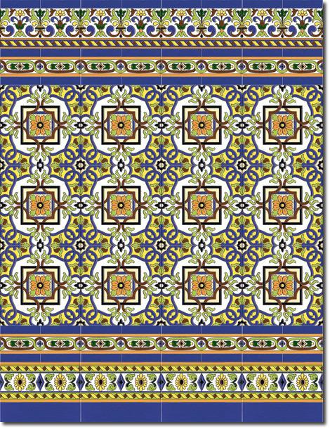 Zócalo azulejos estilo sevillano 144