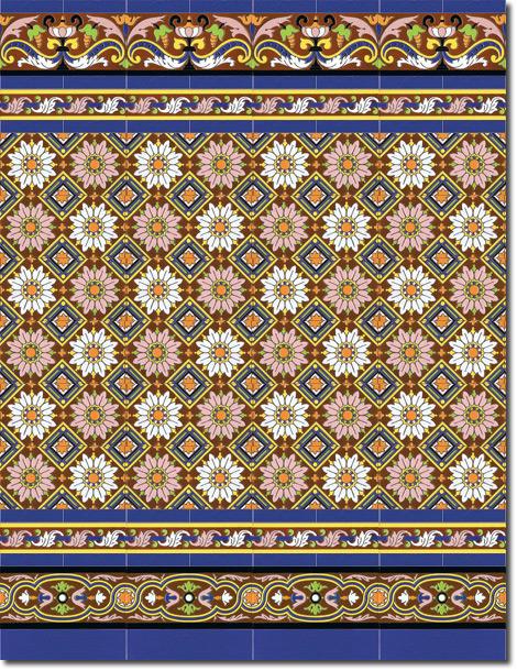 Zócalo azulejos estilo sevillano 162