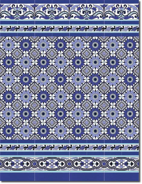 Zócalo azulejos estilo sevillano 163