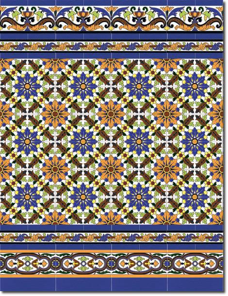 Zócalo azulejos estilo sevillano 171