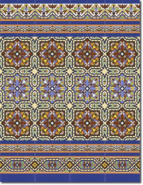 Zócalo azulejos estilo sevillano 182-7