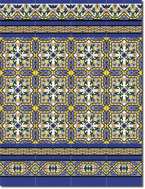 Zócalo azulejos estilo sevillano 185