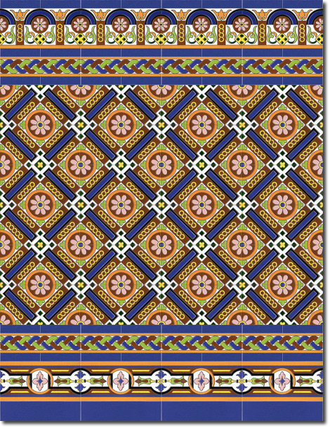 Zócalo azulejos estilo sevillano 192