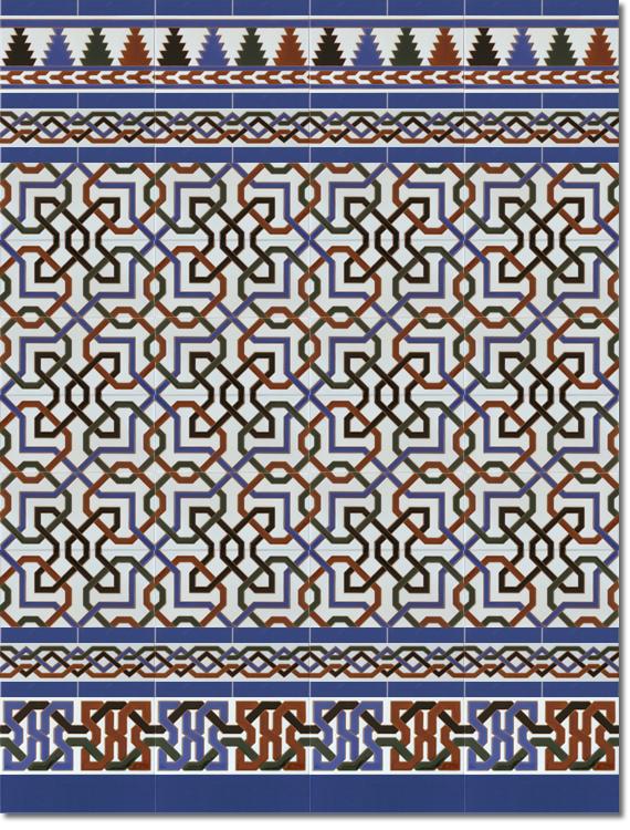 Zócalo estilo árabe modelo 510 azul