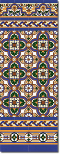 Zócalo azulejos estilo sevillano 106