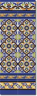 Zócalo azulejos estilo sevillano 111