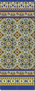 Zócalo azulejos estilo sevillano 124
