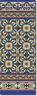 Zócalo azulejos estilo sevillano 135