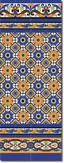 Zócalo azulejos estilo sevillano 161