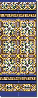 Zócalo azulejos estilo sevillano 184