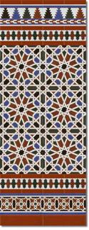 Zócalo azulejos estilo árabe 540 Miel